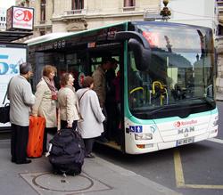 パリシャルルドゴール空港バス,パリ空港からパリ市内バス行き方,パリ空港交通方法,ロワッシーバス