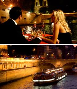 パリ・セーヌ河クルーズのディナークルーズBateaux Mouches