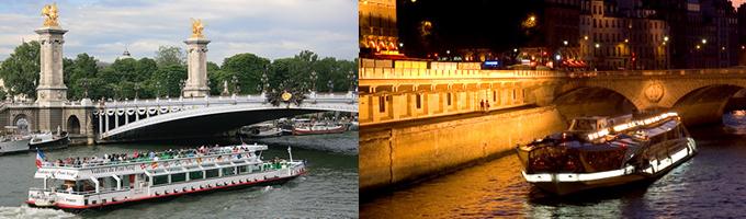 パリ・セーヌ河クルーズの遊覧クルーズBateaux Mouches