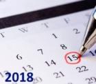 フランス祝日カレンダー 2018年