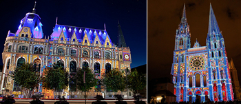 世界遺産シャルトル大聖堂ライトアップ