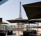 ケブランリ美術館のレストラン,Les ombres,レストラン・レゾンブル,エッフェル塔が見えるレストラン