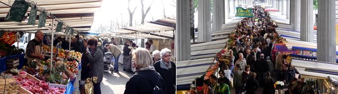 パリの朝市マルシェリスト15区