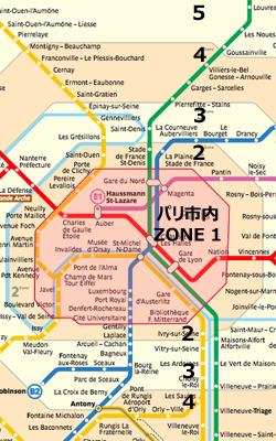 パリの地下鉄メトロ切符の買い方と料金,パリのメトロのフリーパス乗車券,パリのメトロ路線図マップ
