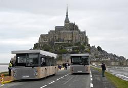 世界遺産モンサンミッシェル電車での行き方ガイド,モンサンミッシェル島無料シャトルバス