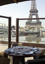 ケ・ブランリ美術館のレストラン,Restaurant Les Ombres,レストラン レゾンブル