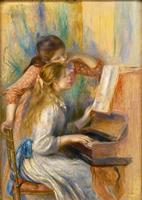 パリ,オランジュリー美術館,ルノワール,ピアノを弾く少女