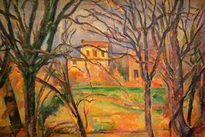 パリ,オランジュリー美術館,ポール・セザンヌ,木々と家