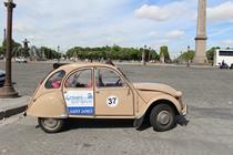 パリ観光,フランスクラシックカー,シトロエン,パリのプライベート観光,パリの貸切観光,パリの車貸切,4 roues sous 1 parapluie,コンコルド広場