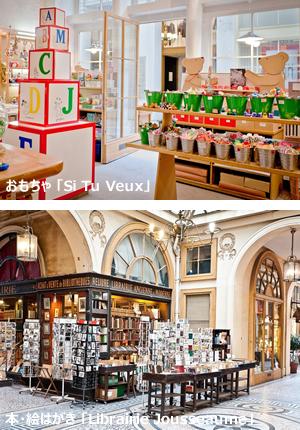 日曜に行けるショッピング,パリの散策道パッサージュ・ヴィヴィエンヌ,ショップリスト