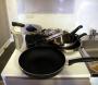 パリのアパルトマン16区短期滞在可,パリのアパルトマン鍋フライパン完備