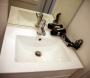 パリのアパルトマン16区短期滞在可,パリのアパルトマンのシャワールーム洗面台