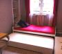 パリのアパルトマン16区短期滞在可,パリのアパルトマン2名利用時ベッド
