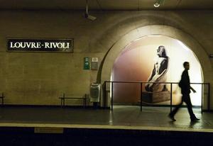 Louvre-Rivoli,ルーブルリヴォリ駅,パリのメトロ
