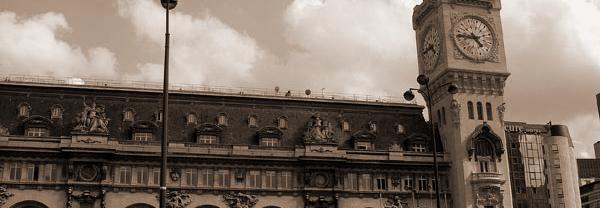 フランス日本の時差,パリリヨン駅